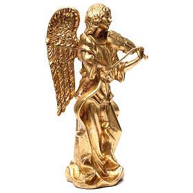 Angelo in piedi 35 cm oro foglia s4