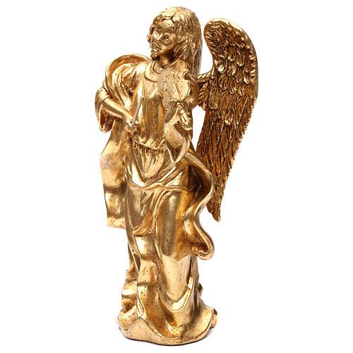 Angelo in piedi 35 cm oro foglia 3