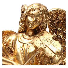 Standing angel statue in gold color 35 cm s2