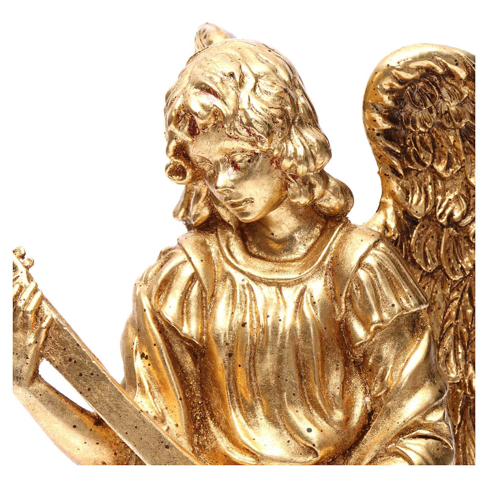 Ángel de pie 35 cm oro con mandolina 3