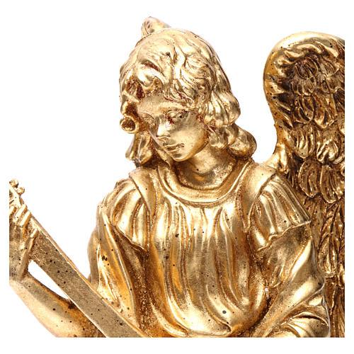 Angelo in piedi 35 cm oro con mandolino 2