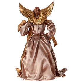 Angelo resina stoffa colore oro 35 cm s5