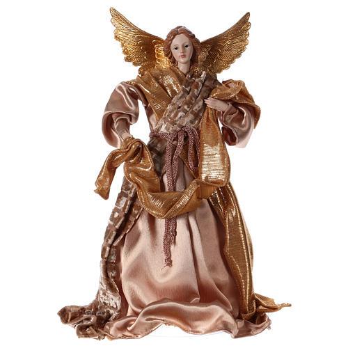 Angelo resina stoffa colore oro 35 cm 1