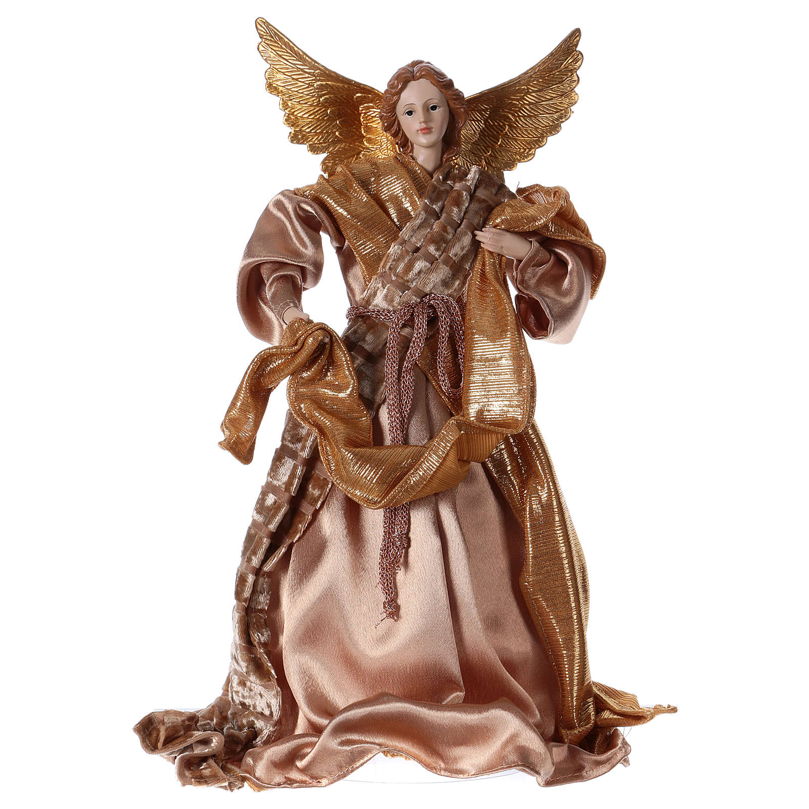 Resin Angel with Golden Robe 35 cm 3
