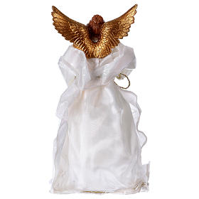 Angel in resin with white robe 35 cm s5