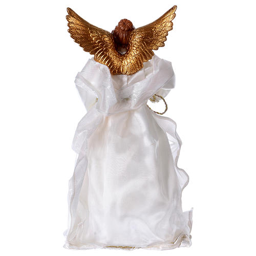 Angel in resin with white robe 35 cm 5
