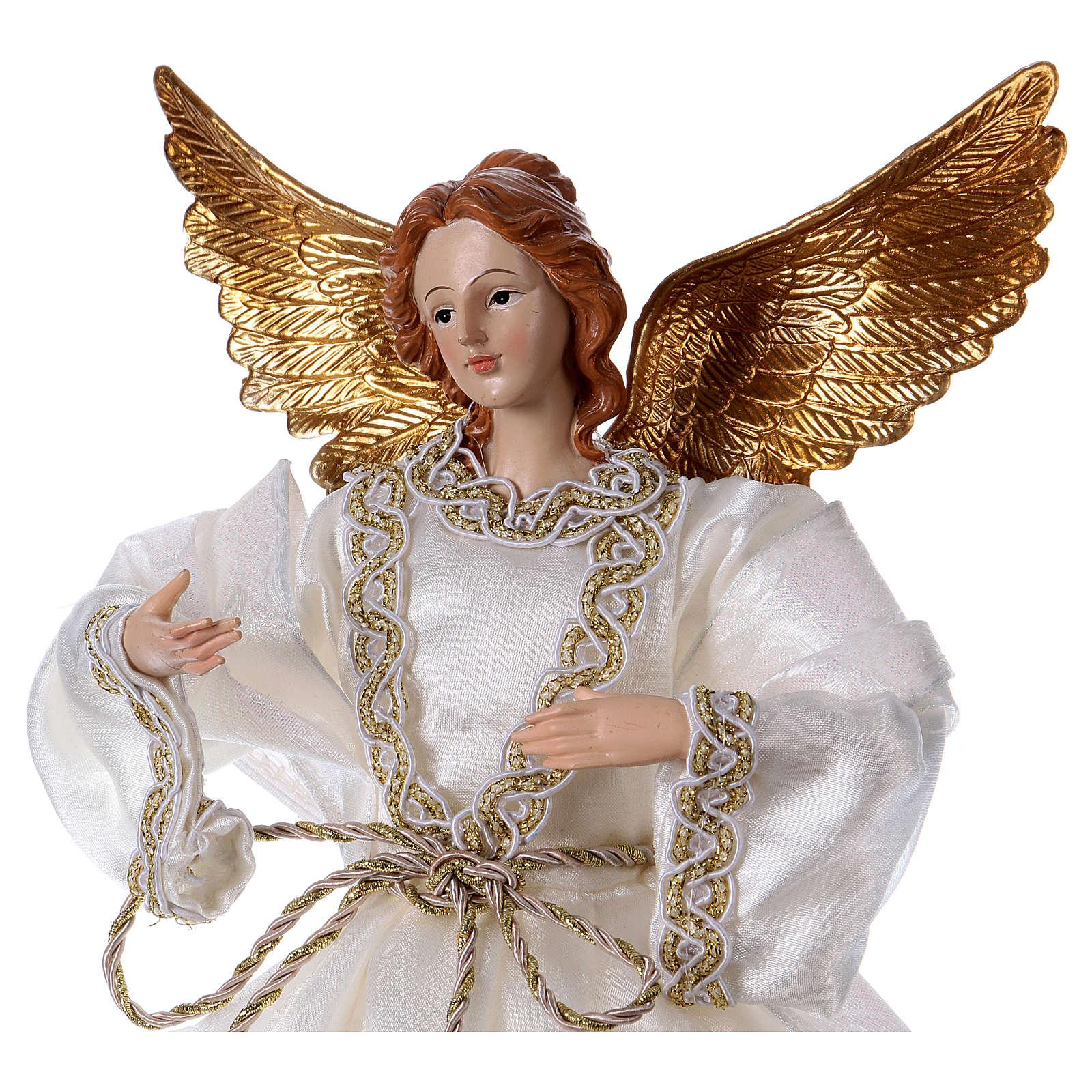 Ángel con tela blanca de resina 35 cm 3