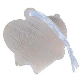 Angeli 4 cm su cuore bianco da appendere 20 pz confezione s2