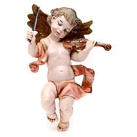 STOCK Angelo musicista in pvc misura 11 cm con violino Fontanini s1