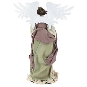 Ange 40 cm avec violon habillé en gaze et dentelle s5
