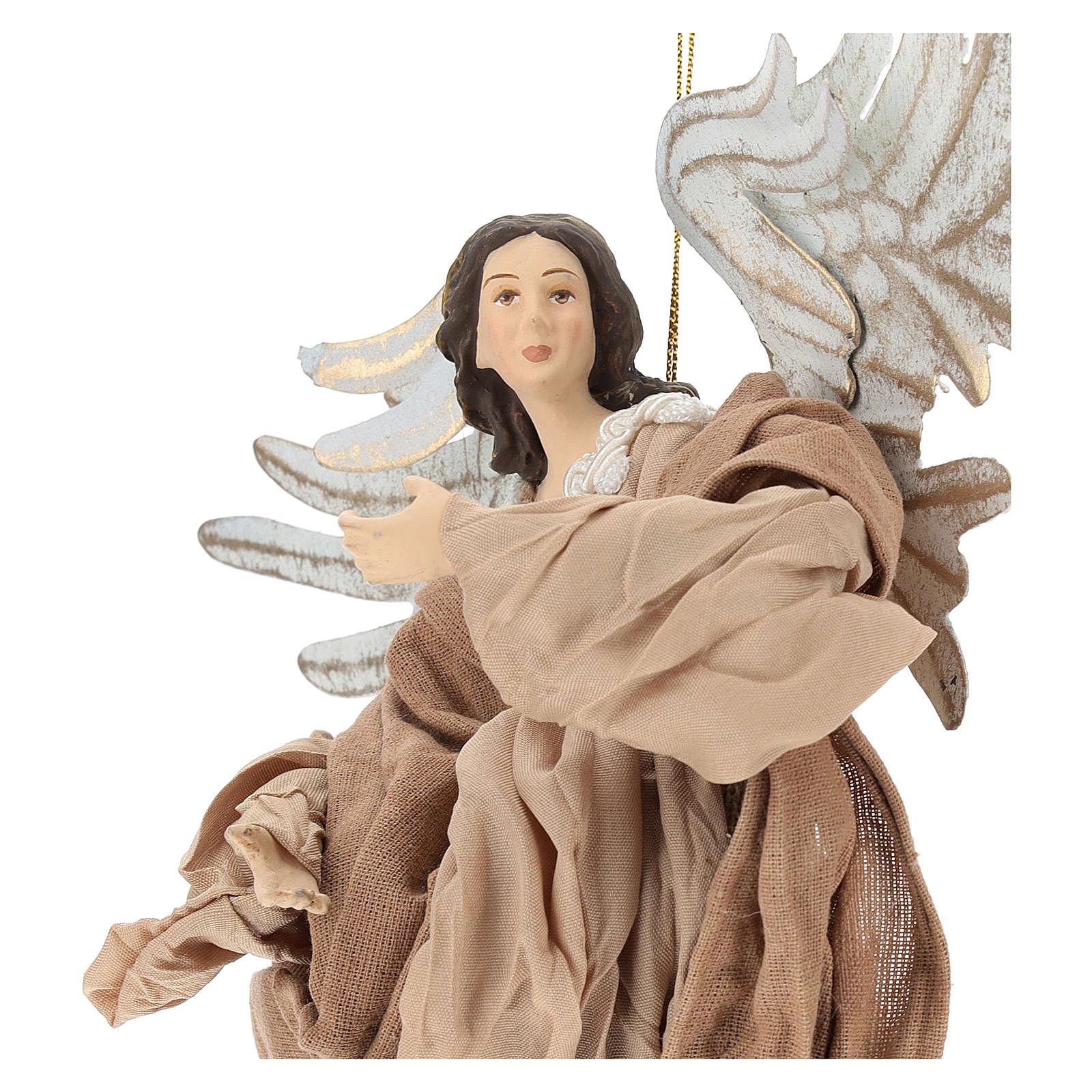 Ángel que vuela de terracota con mirada hacia la derecha 3