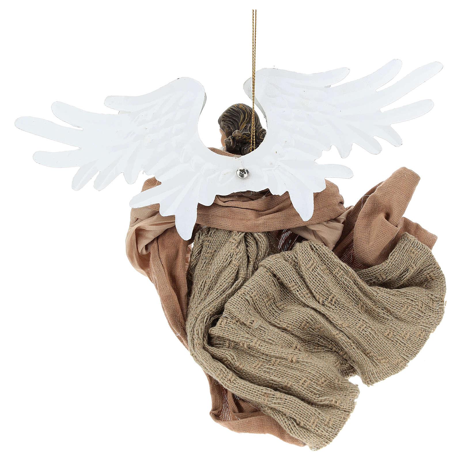 Angelo in volo in terracotta con sguardo verso destra 3