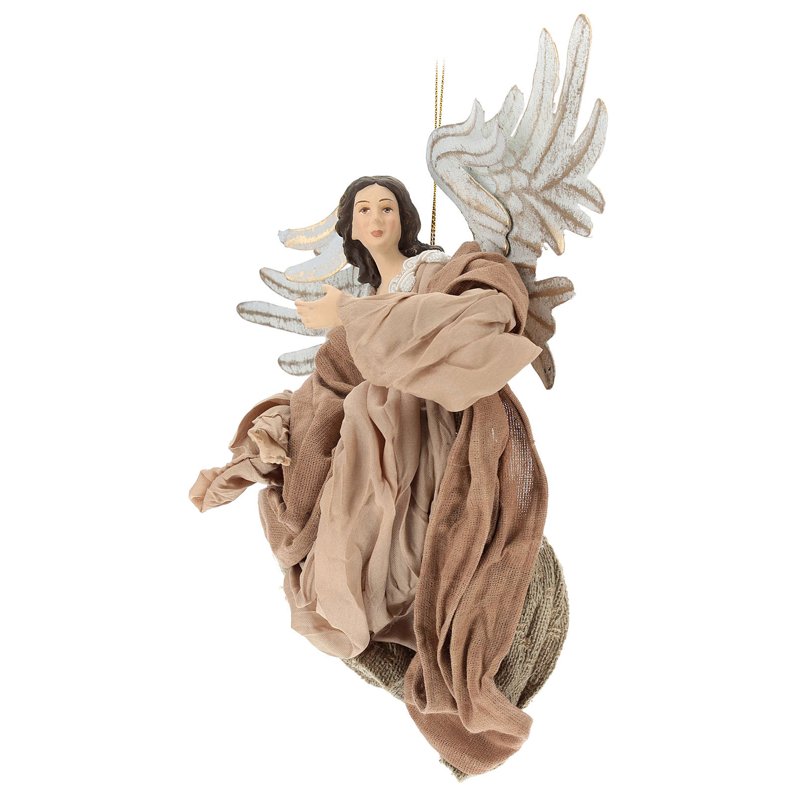 Anjo em vôo em terracota com cabeça para a direita 3
