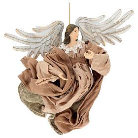 Anjo em vôo em terracota com cabeça para a direita s1