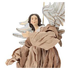 Anjo em vôo em terracota com cabeça para a direita s2