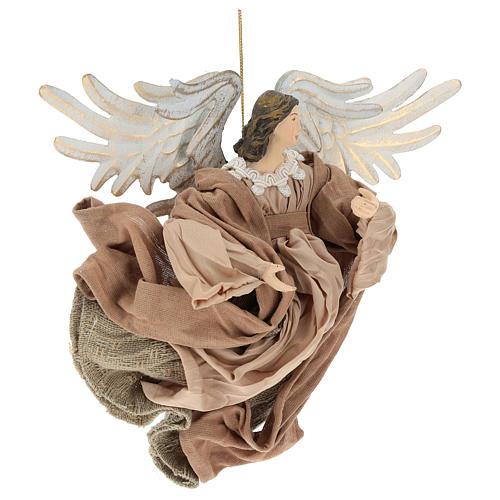Anjo em vôo em terracota com cabeça para a direita 4
