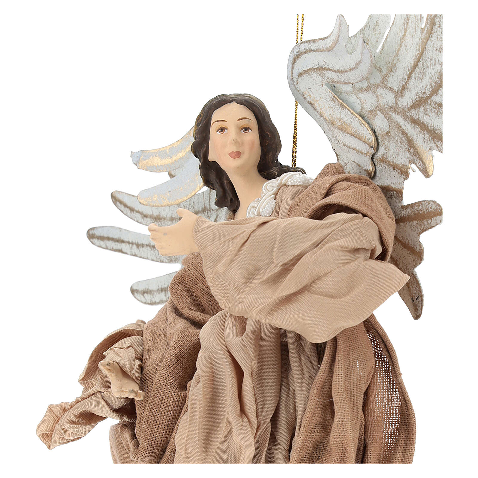 Angel statue flying in resin looking to the right 3
