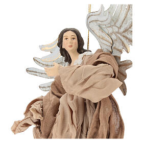 Angel statue flying in resin looking to the right s2