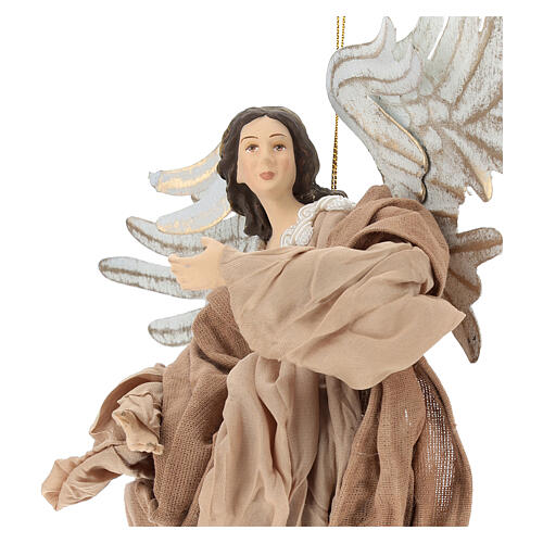 Angel statue flying in resin looking to the right 2