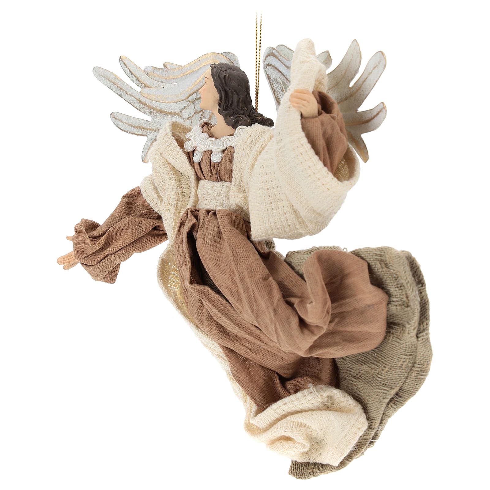 Angelo in volo in resina sguardo verso sinistra 3