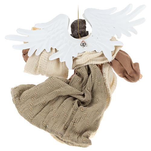 Anjo em vôo em terracota com cabeça para a esquerda 5