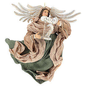 Ángel que vuela 35 cm de terracota detalles de tejido s1
