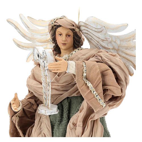 Ángel que vuela 35 cm de terracota detalles de tejido 2