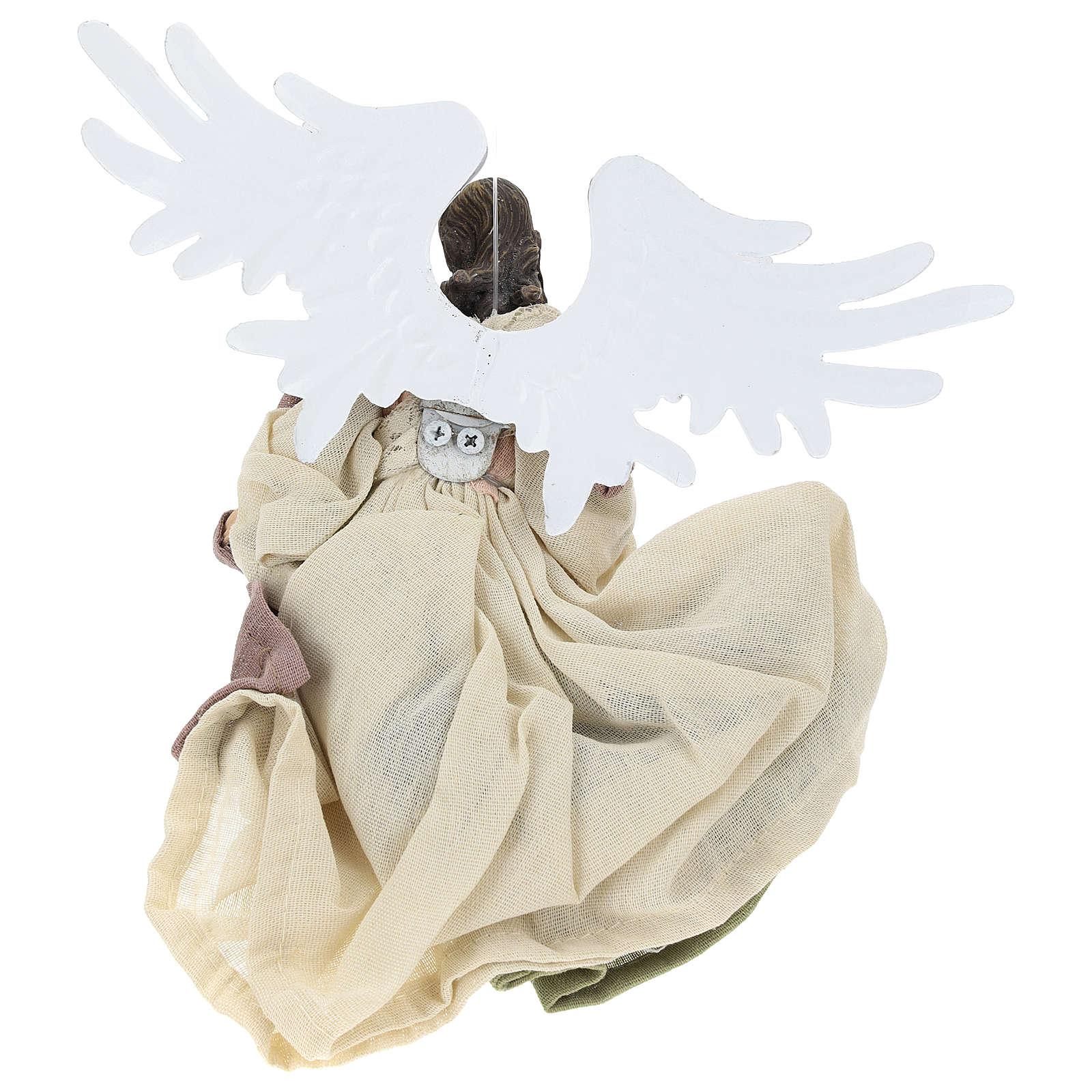 Ángel que vuela resina con mirada hacia la derecha 3