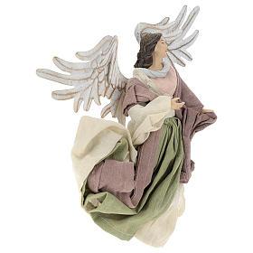 Ángel que vuela resina con mirada hacia la derecha s4