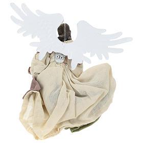 Ange en vol résine tête tournée vers la droite s5
