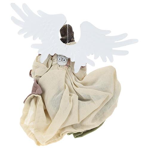 Angelo in volo resina con viso rivolto verso destra 5