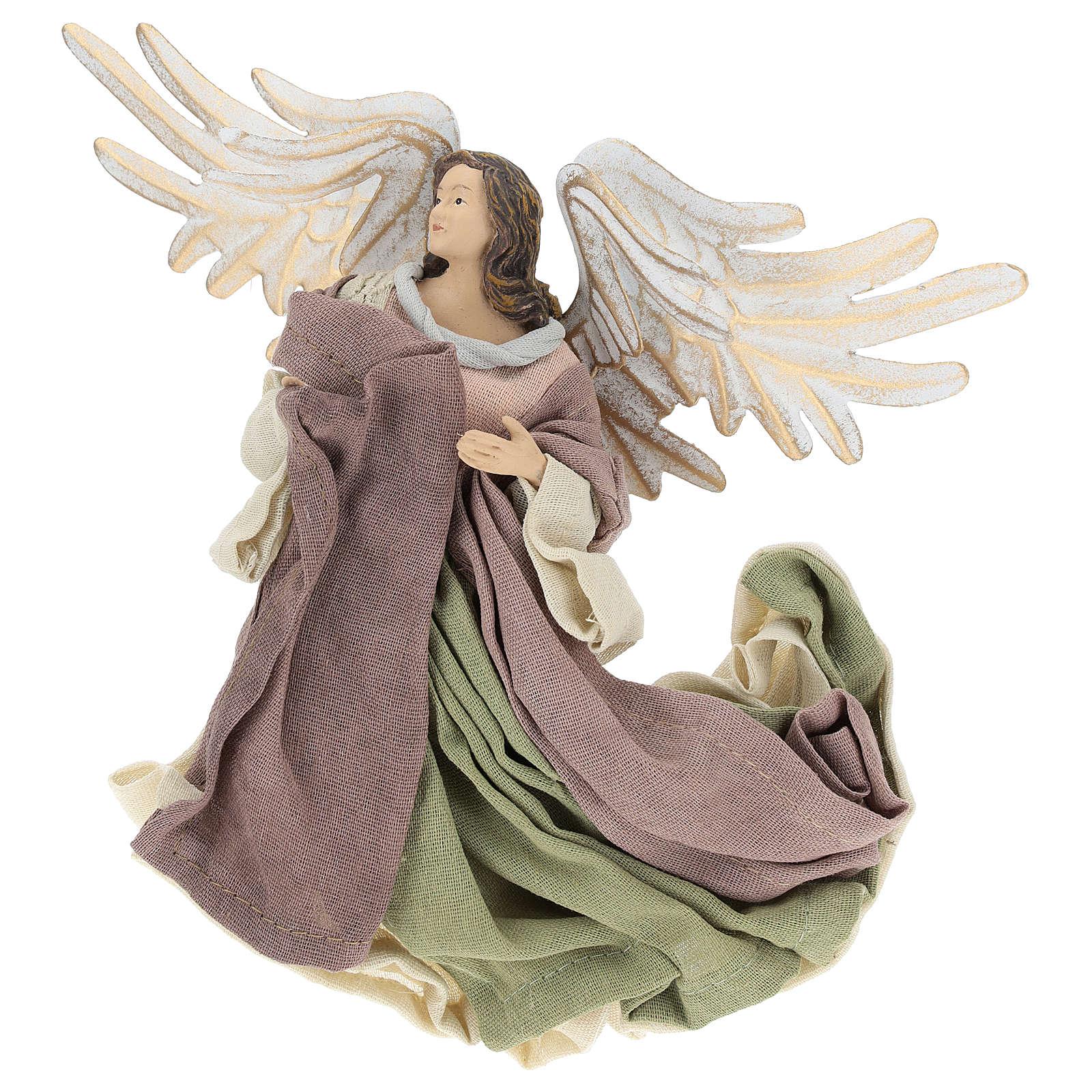 Ángel que vuela resina con mirada hacia la izquierda 3