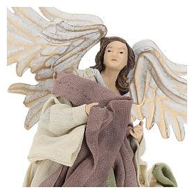Ángel que vuela resina con mirada hacia la izquierda s2
