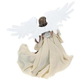 Ángel que vuela resina con mirada hacia la izquierda s5