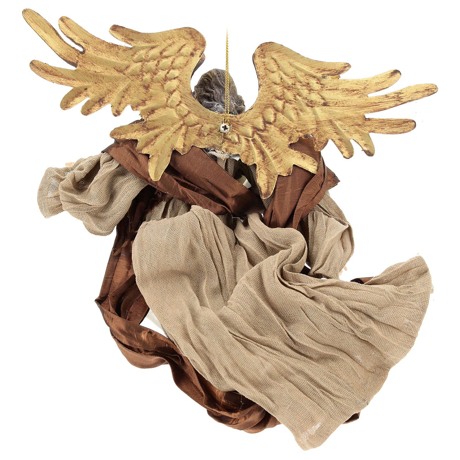 Ange en vol avec visage vers la droite Shabby Chic 3