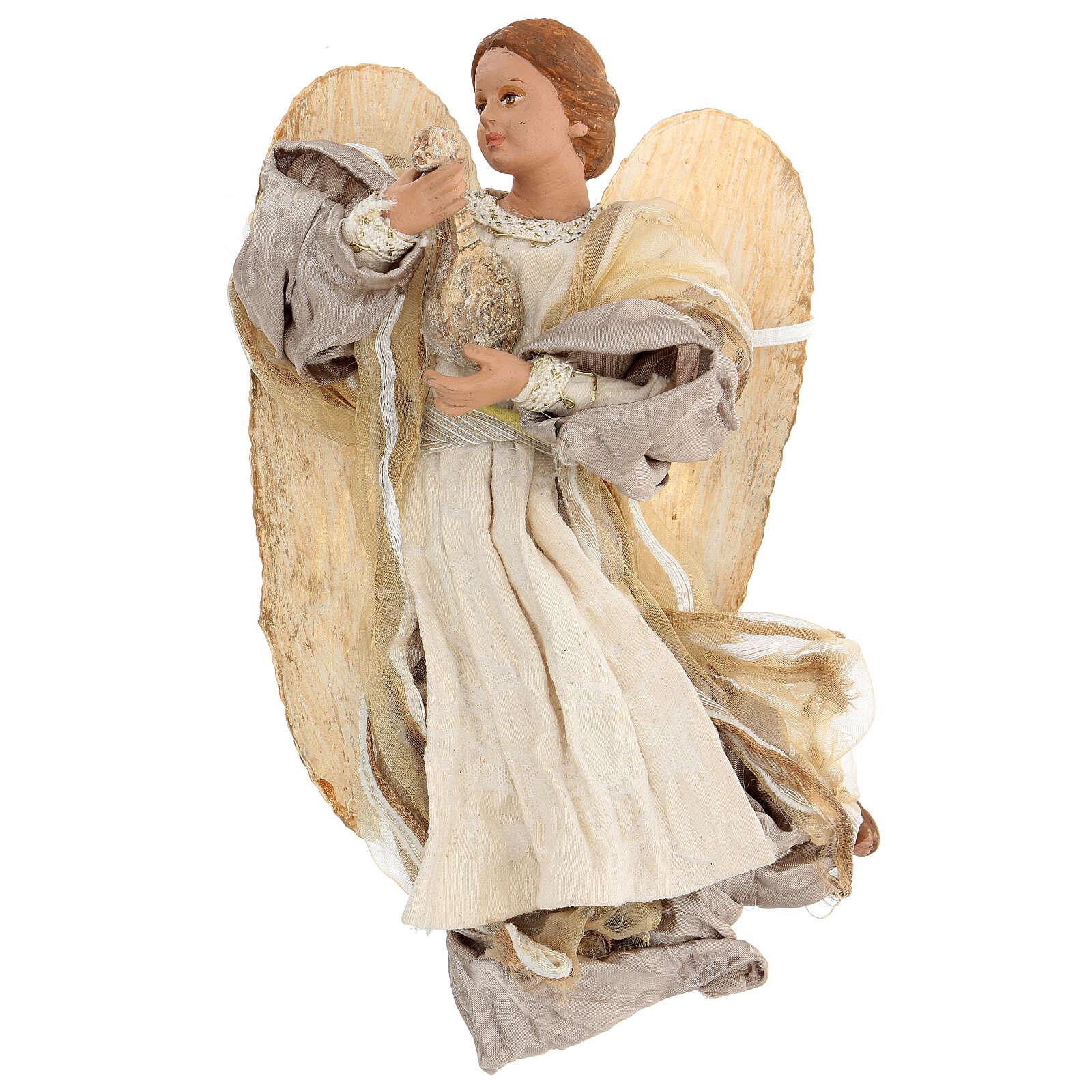 Ángel que vuela con tejido color bronce Shabby Chic de modelos diferentes 3