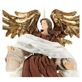 Ángel que vuela con tejido color bronce Shabby Chic s2