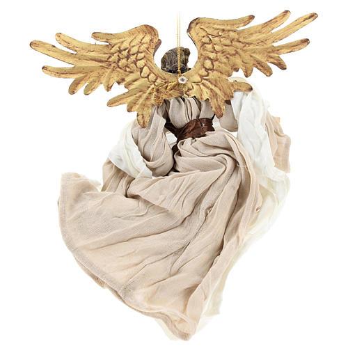 Ángel que vuela con tejido color bronce Shabby Chic 5