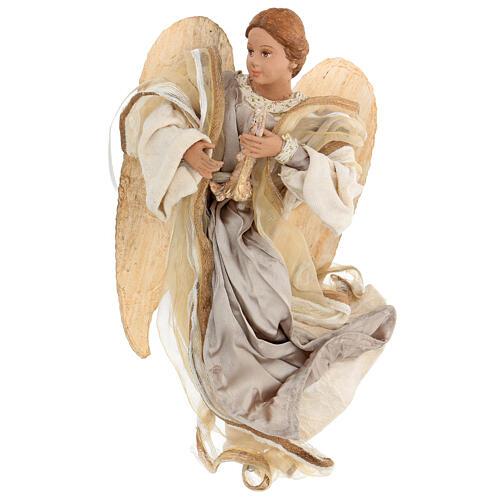 Ángel que vuela con tejido color bronce Shabby Chic de modelos diferentes 2