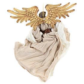 Angelo in volo con tessuto color bronzo Shabby Chic s5