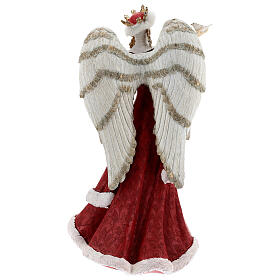 Angel with sparrow resin 40 cm s5