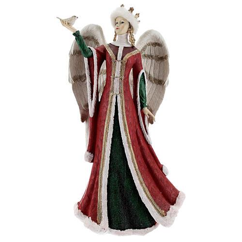 Ángel con pajarito resina 40 cm 1