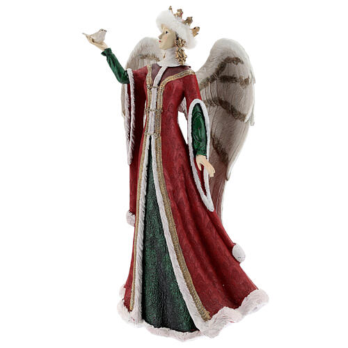 Ángel con pajarito resina 40 cm 3