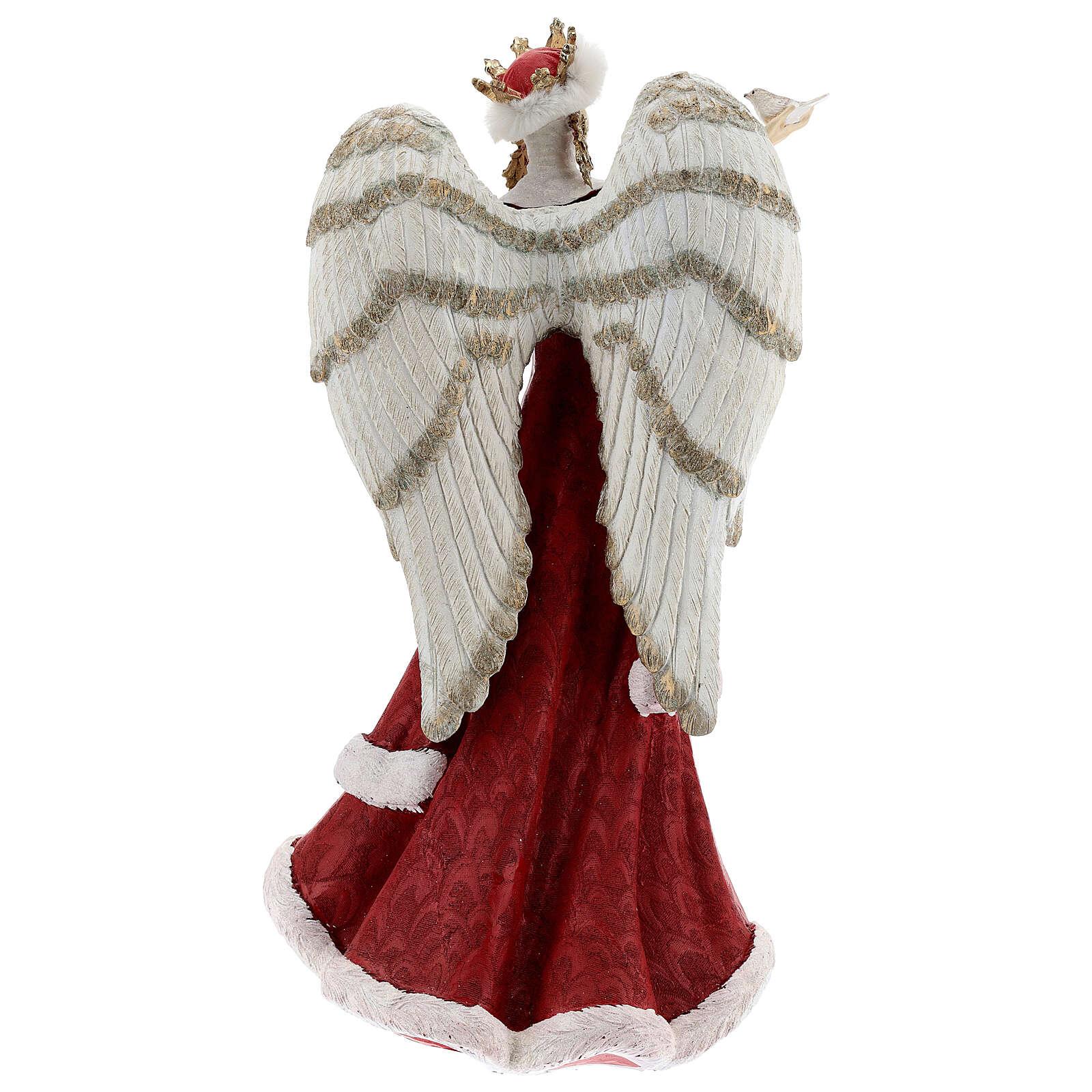 Ange avec oiseau résine 40 cm 3
