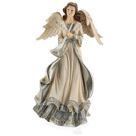 Angel with trumpet glitter 30 cm s1