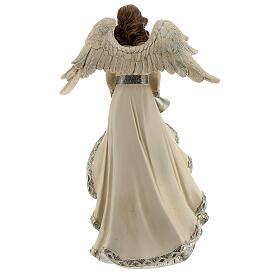 Angel with trumpet glitter 30 cm s5