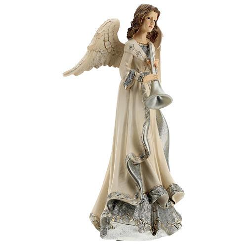 Angel with trumpet glitter 30 cm 4