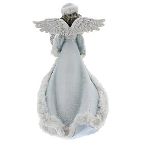 Angel with floral heart crown 35 cm s5