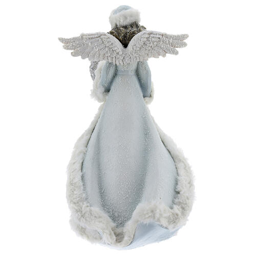 Angel with floral heart crown 35 cm 5