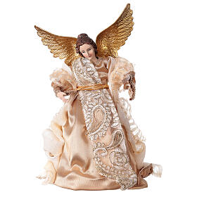 Angel 29.5 cm gold fabric and resin s1